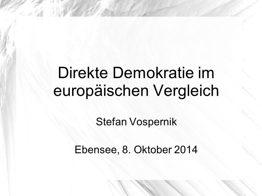 Direkte Demokratie im europäischen Vergleich