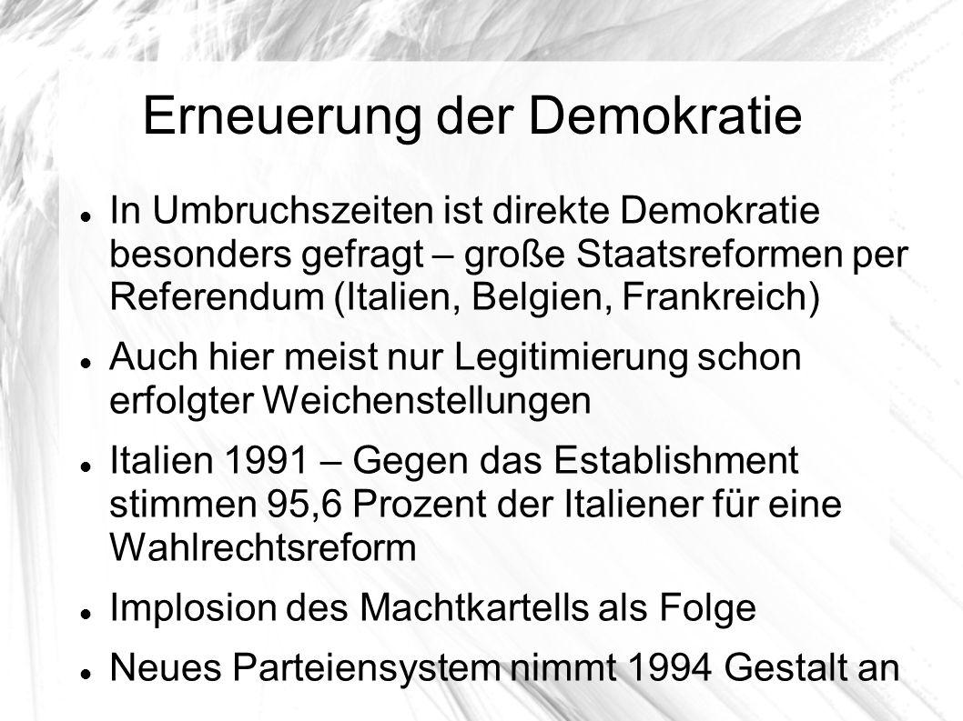 Erneuerung der Demokratie