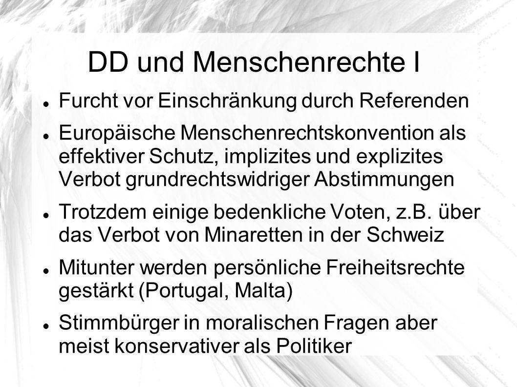 DD und Menschenrechte I