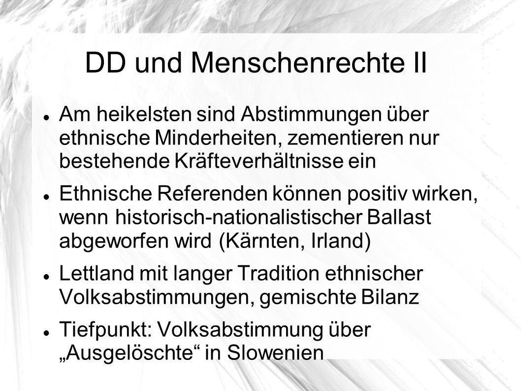 DD und Menschenrechte II