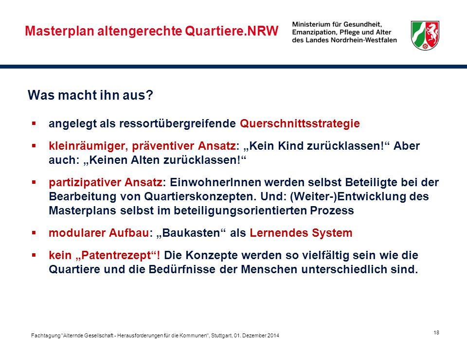 Masterplan altengerechte Quartiere.NRW