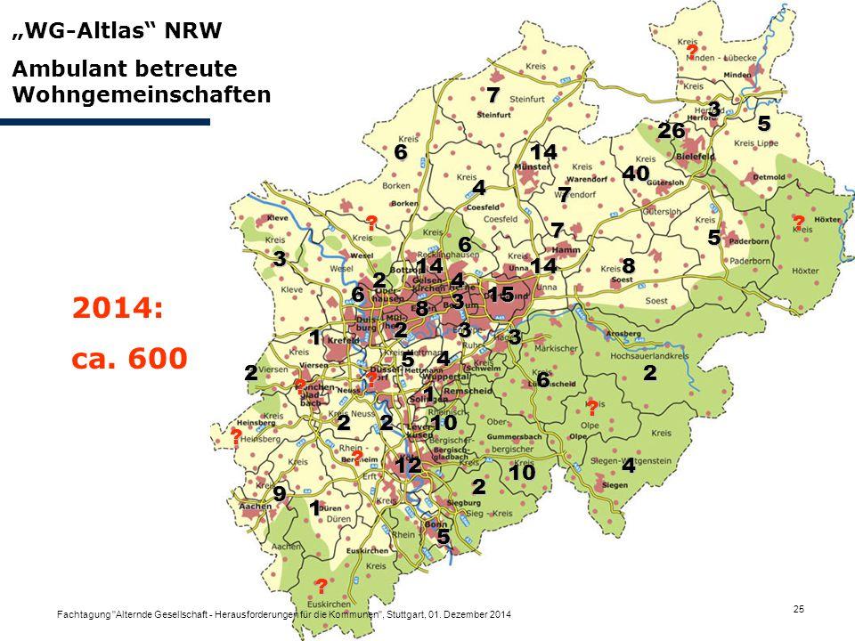 """2014: ca. 600 """"WG-Altlas NRW Ambulant betreute Wohngemeinschaften 7"""