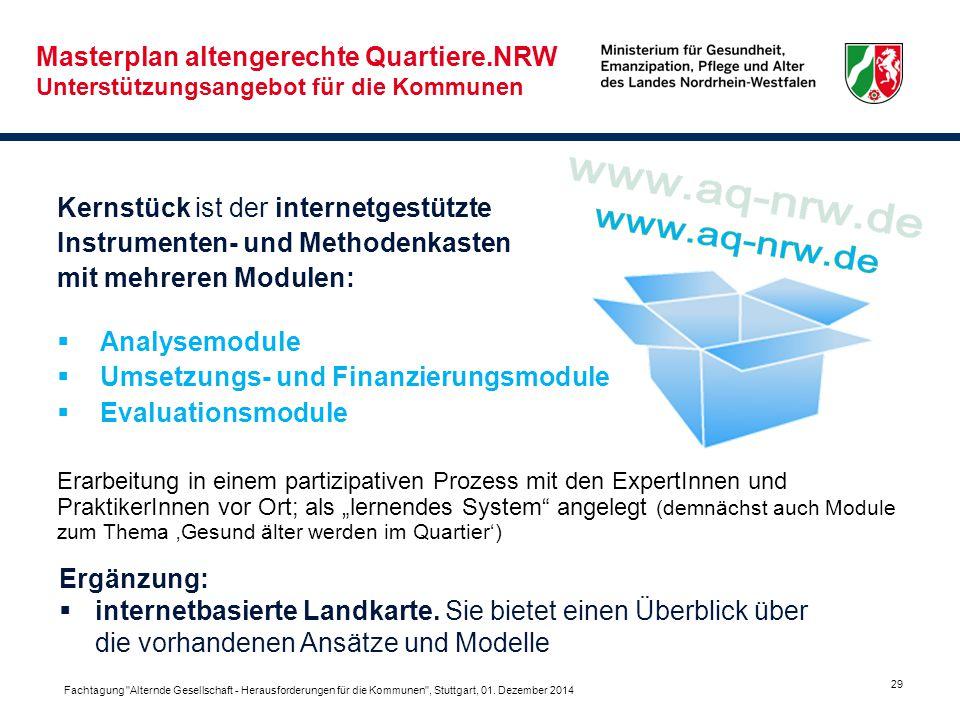 www.aq-nrw.de Masterplan altengerechte Quartiere.NRW