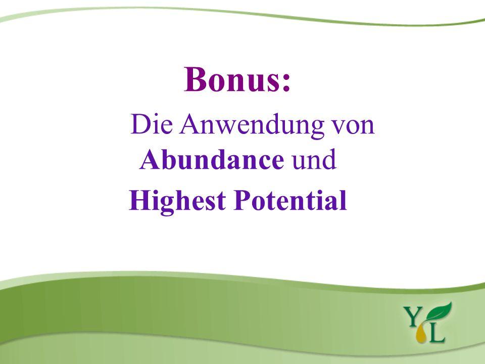Die Anwendung von Abundance und