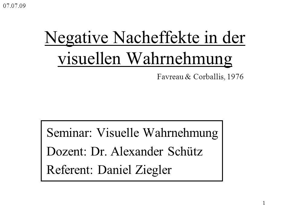 Negative Nacheffekte in der visuellen Wahrnehmung