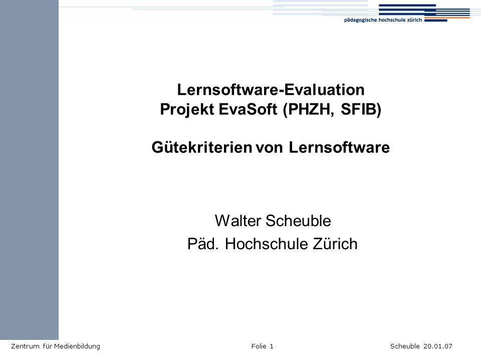 Walter Scheuble Päd. Hochschule Zürich