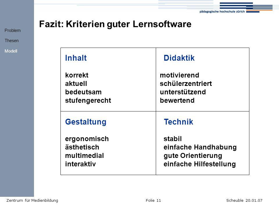 Fazit: Kriterien guter Lernsoftware
