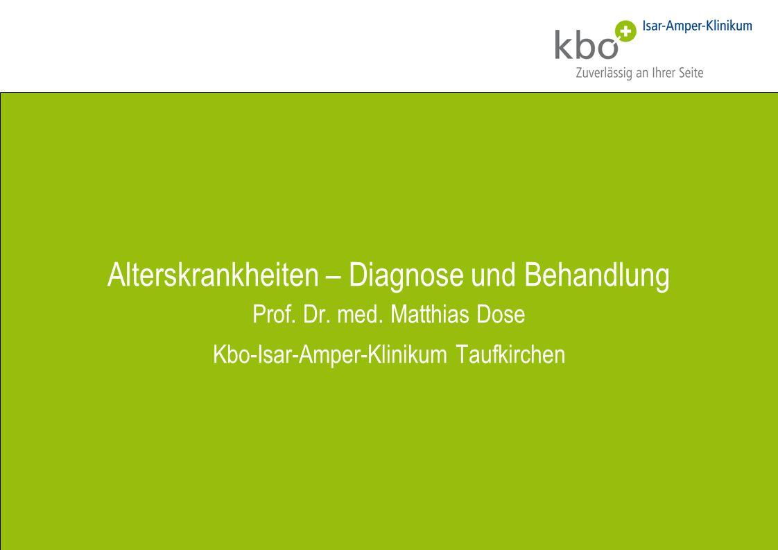 Alterskrankheiten – Diagnose und Behandlung