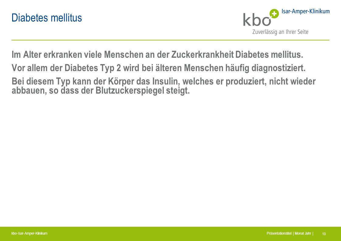 Diabetes mellitus Im Alter erkranken viele Menschen an der Zuckerkrankheit Diabetes mellitus.