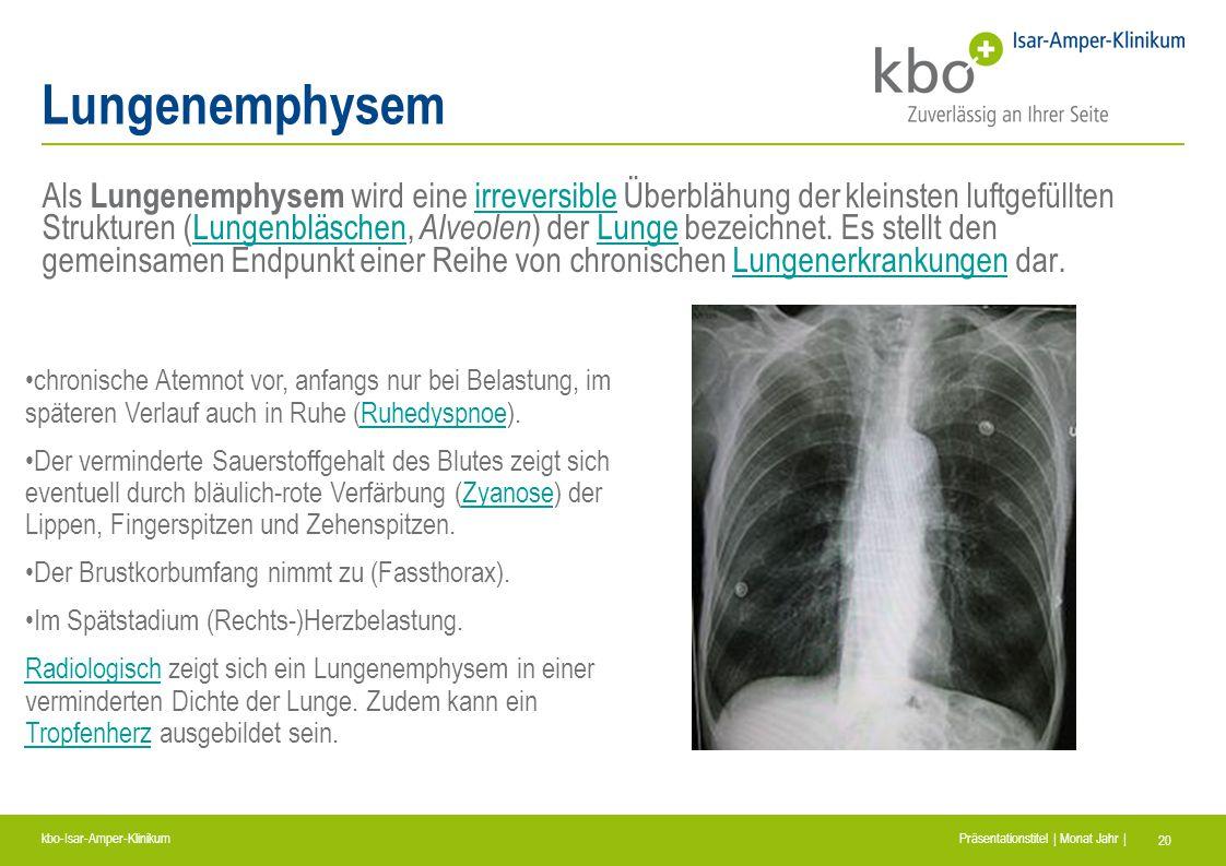 Lungenemphysem