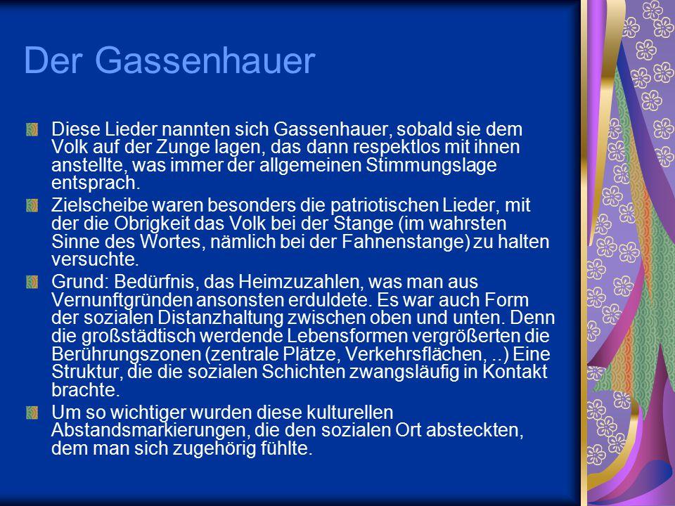 Der Gassenhauer