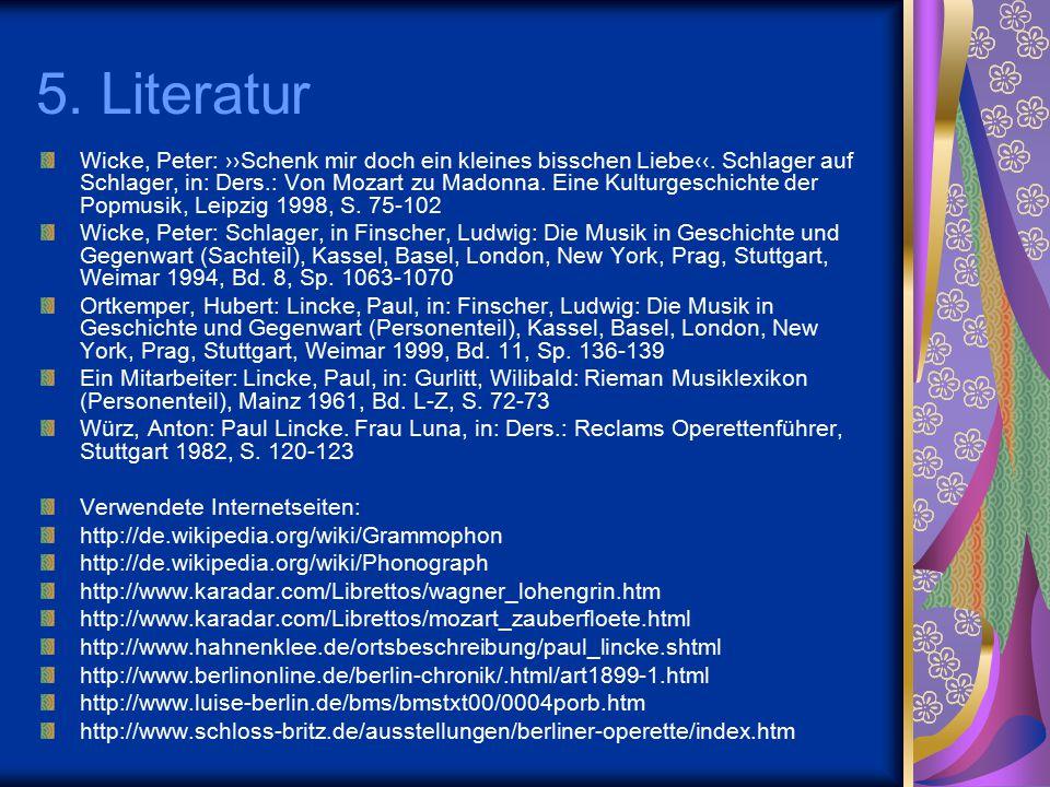 5. Literatur