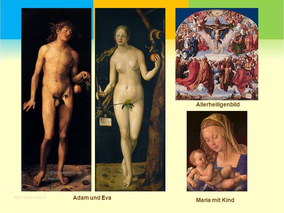Allerheiligenbild Adam und Eva Maria mit Kind