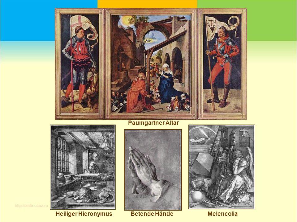 Paumgartner Altar Heiliger Hieronymus Betende Hände Melencolia