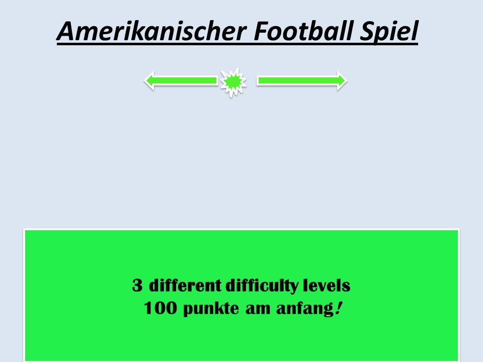 Amerikanischer Football Spiel
