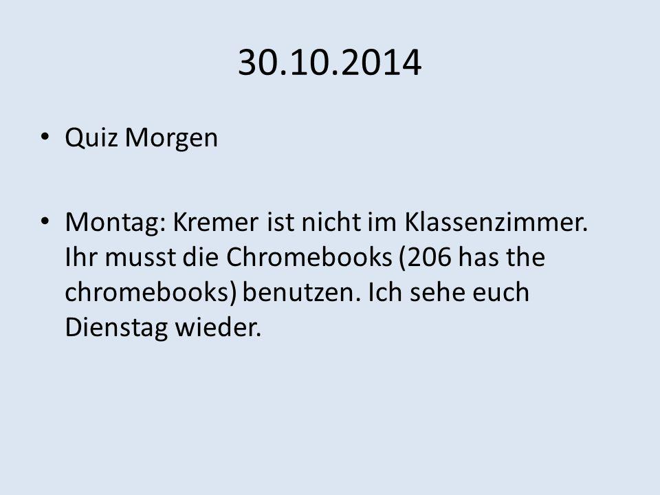 30.10.2014 Quiz Morgen.