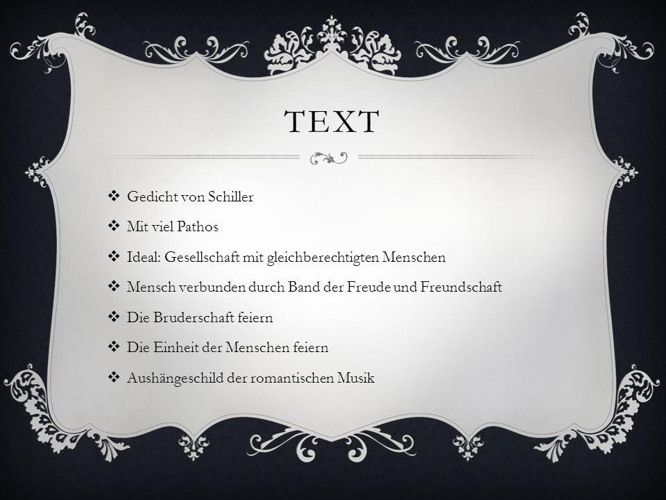 Text Gedicht von Schiller Mit viel Pathos