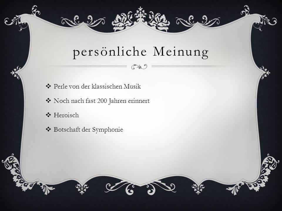 persönliche Meinung Perle von der klassischen Musik