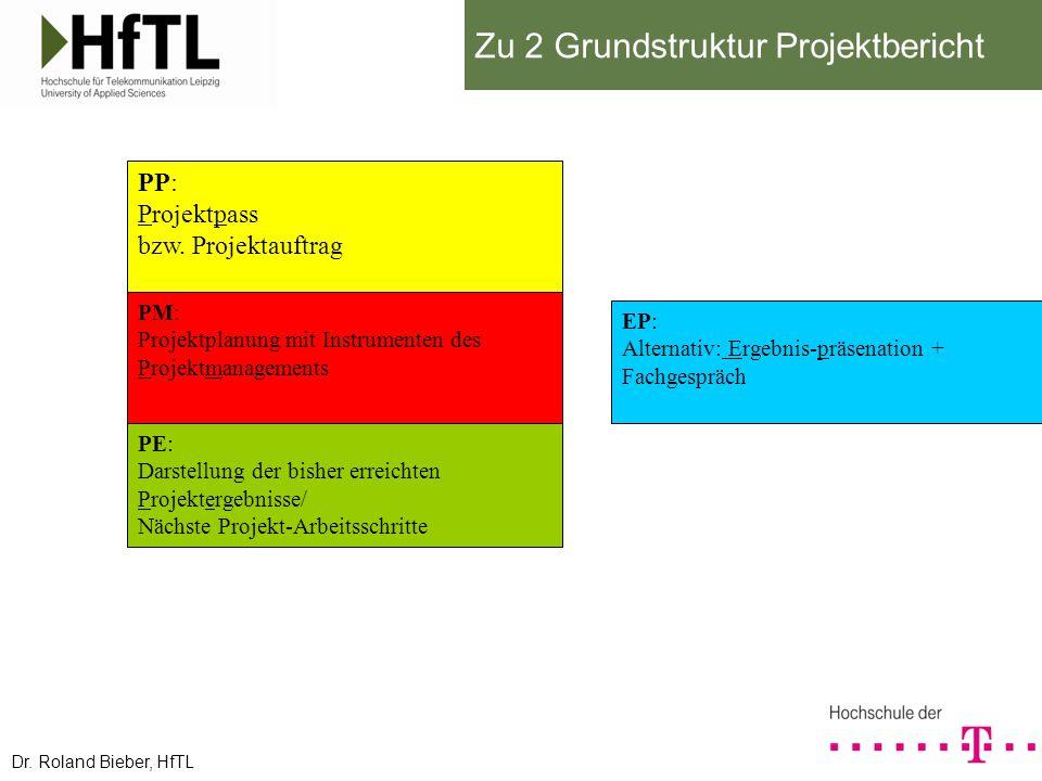 Zu 2 Grundstruktur Projektbericht