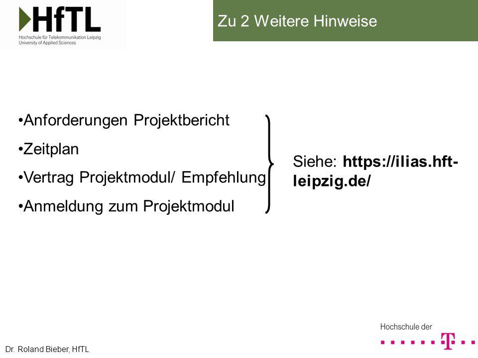 Anforderungen Projektbericht Zeitplan Vertrag Projektmodul/ Empfehlung