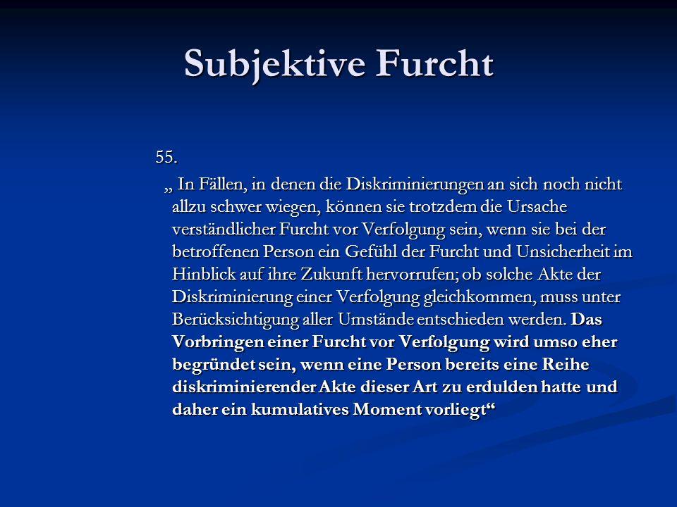 Subjektive Furcht 55.