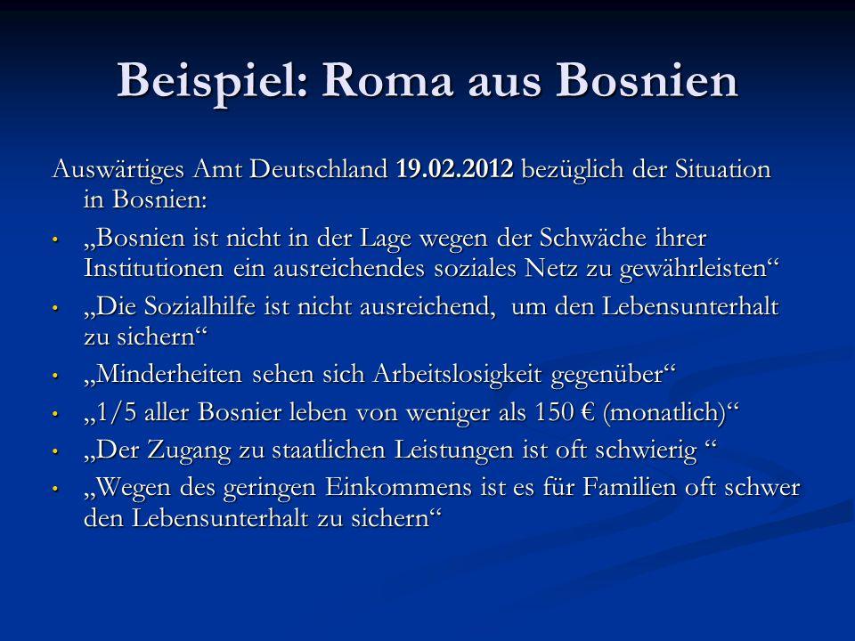 Beispiel: Roma aus Bosnien