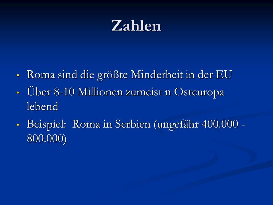 Zahlen Roma sind die größte Minderheit in der EU