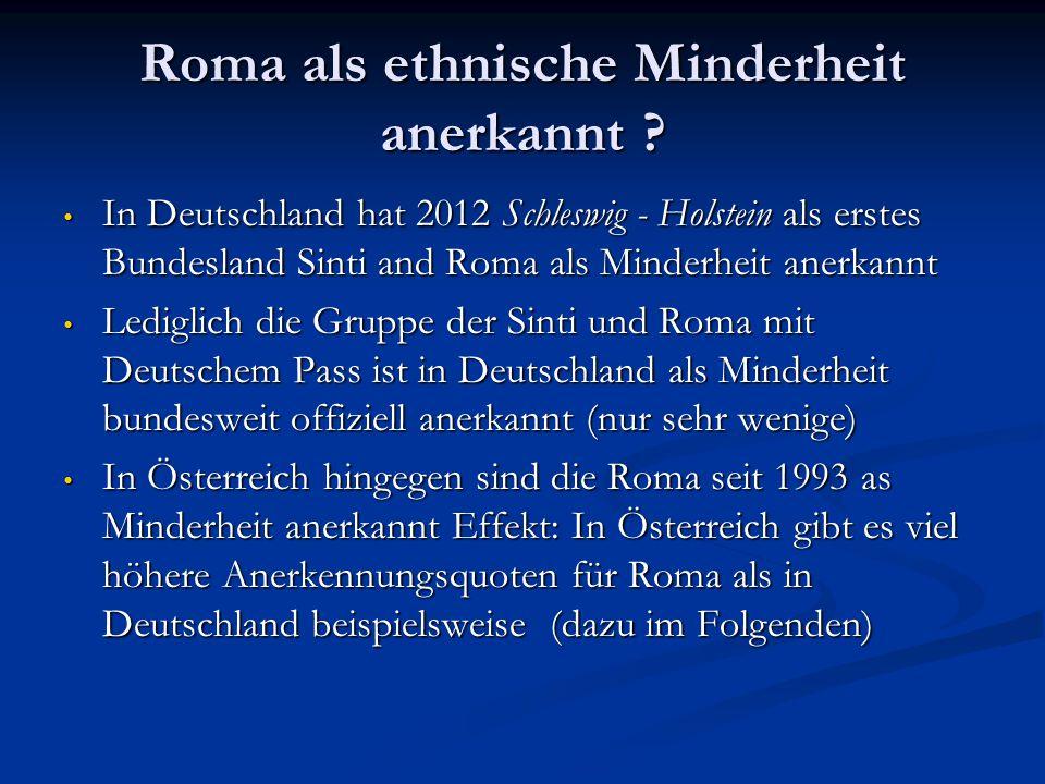 Roma als ethnische Minderheit anerkannt