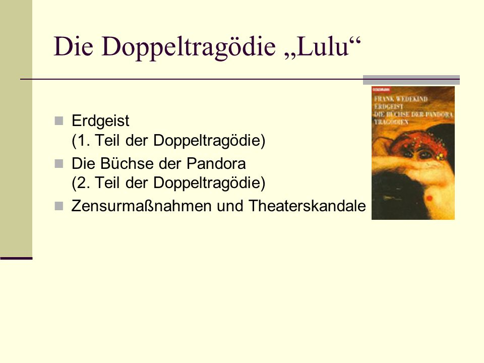"""Die Doppeltragödie """"Lulu"""