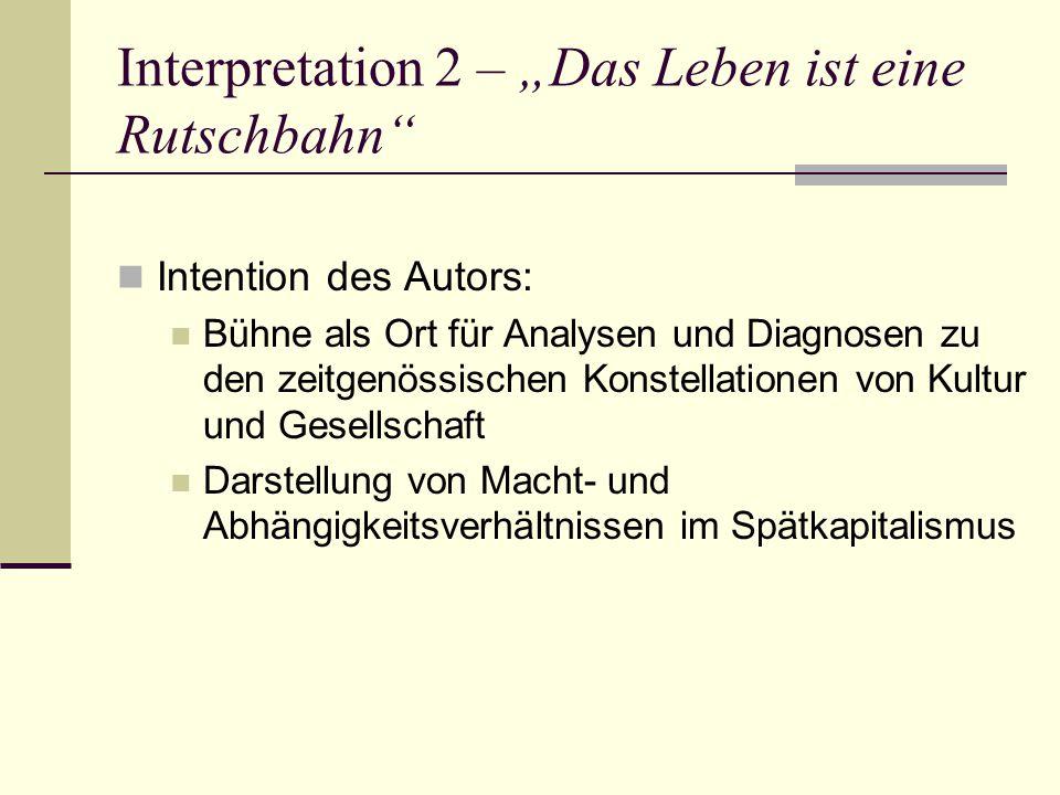 """Interpretation 2 – """"Das Leben ist eine Rutschbahn"""