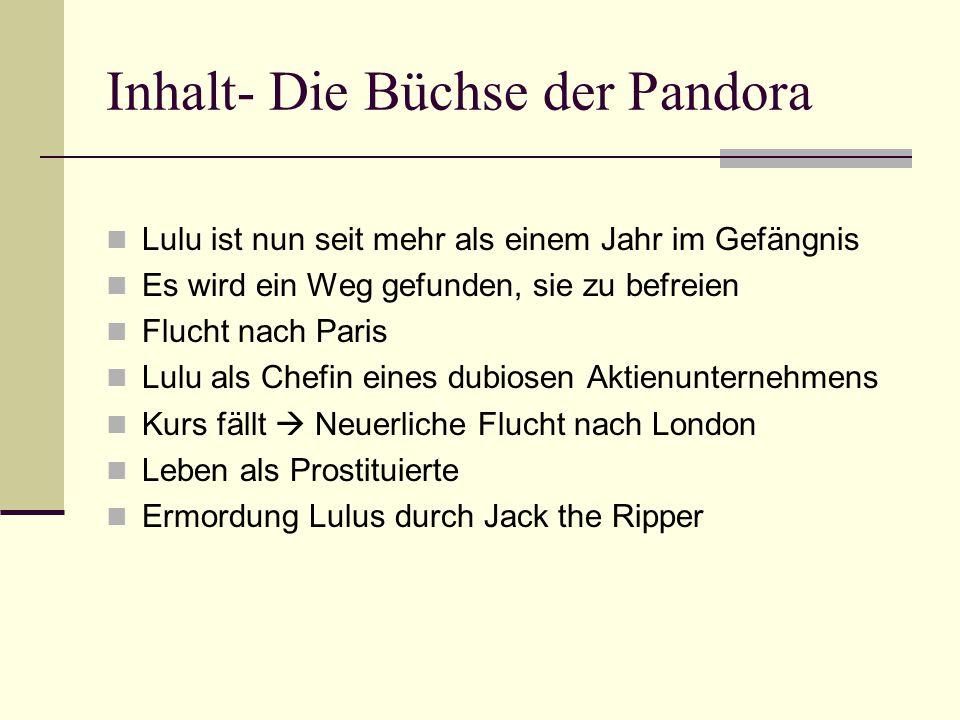 Inhalt- Die Büchse der Pandora