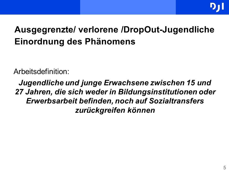 Ausgegrenzte/ verlorene /DropOut-Jugendliche Einordnung des Phänomens
