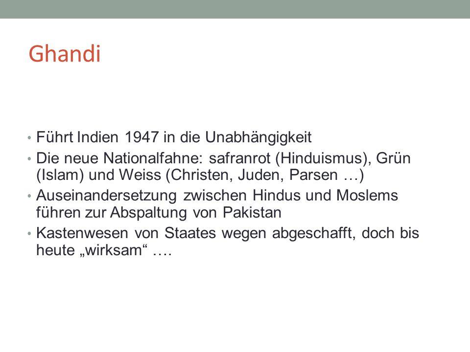 Ghandi Führt Indien 1947 in die Unabhängigkeit