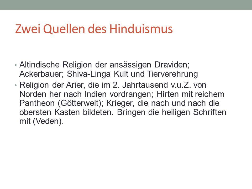 Zwei Quellen des Hinduismus
