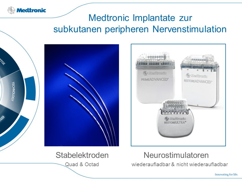 Medtronic Implantate zur subkutanen peripheren Nervenstimulation
