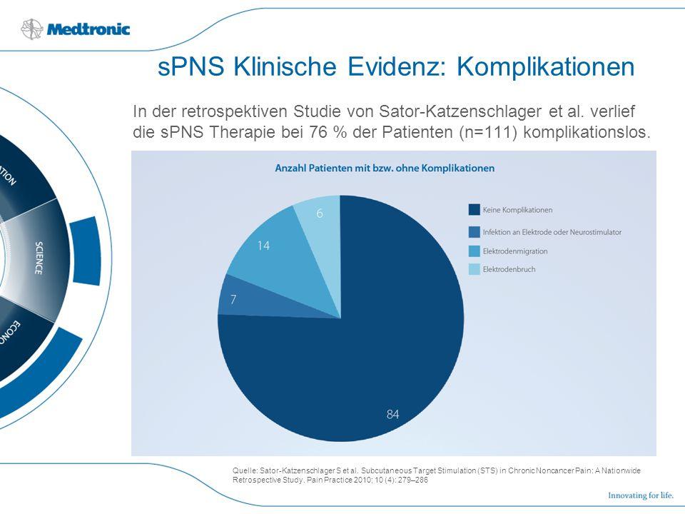 sPNS Klinische Evidenz: Komplikationen
