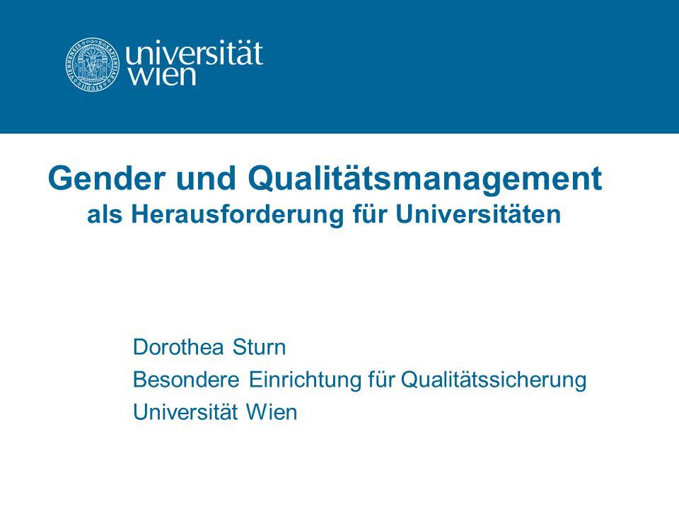 Gender und Qualitätsmanagement als Herausforderung für Universitäten