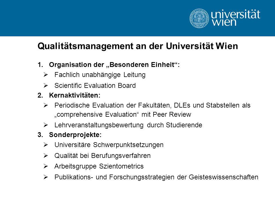 Qualitätsmanagement an der Universität Wien