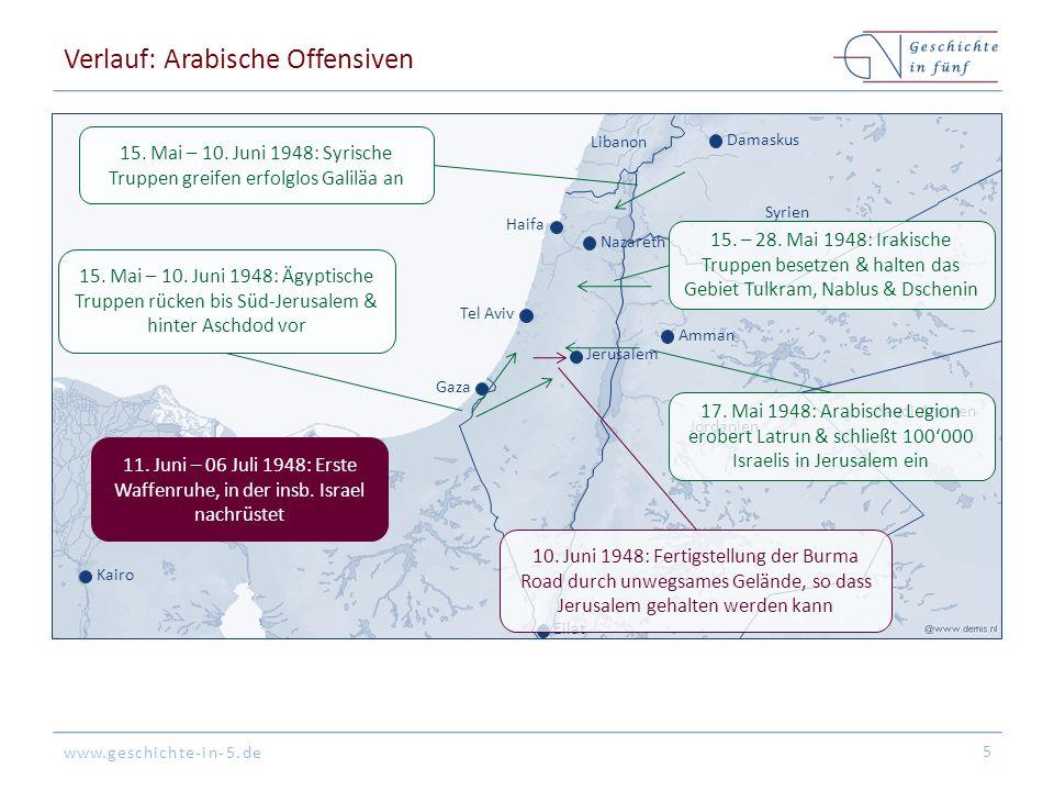 Verlauf: Arabische Offensiven
