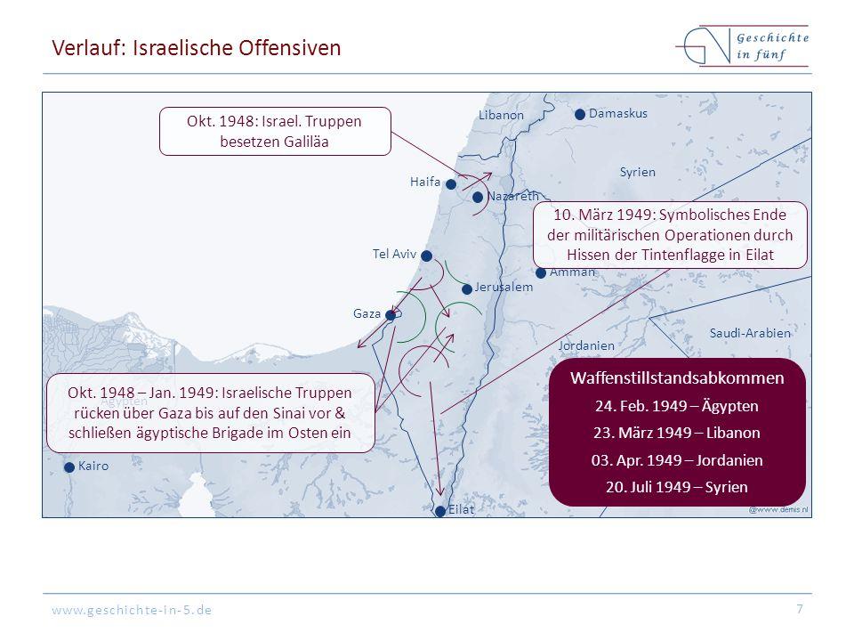 Verlauf: Israelische Offensiven