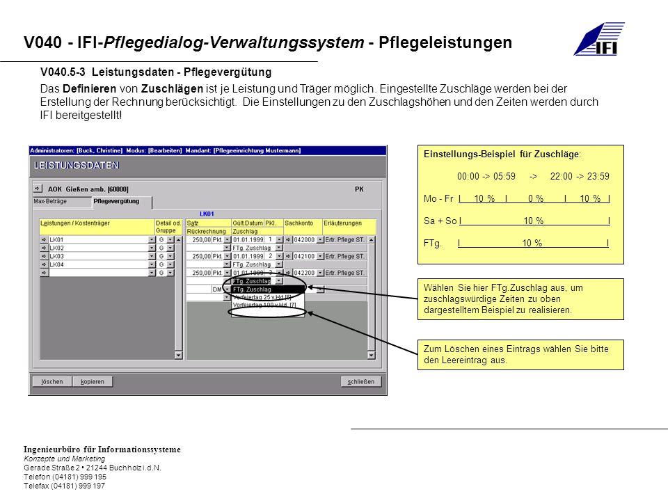 V040.5-3 Leistungsdaten - Pflegevergütung