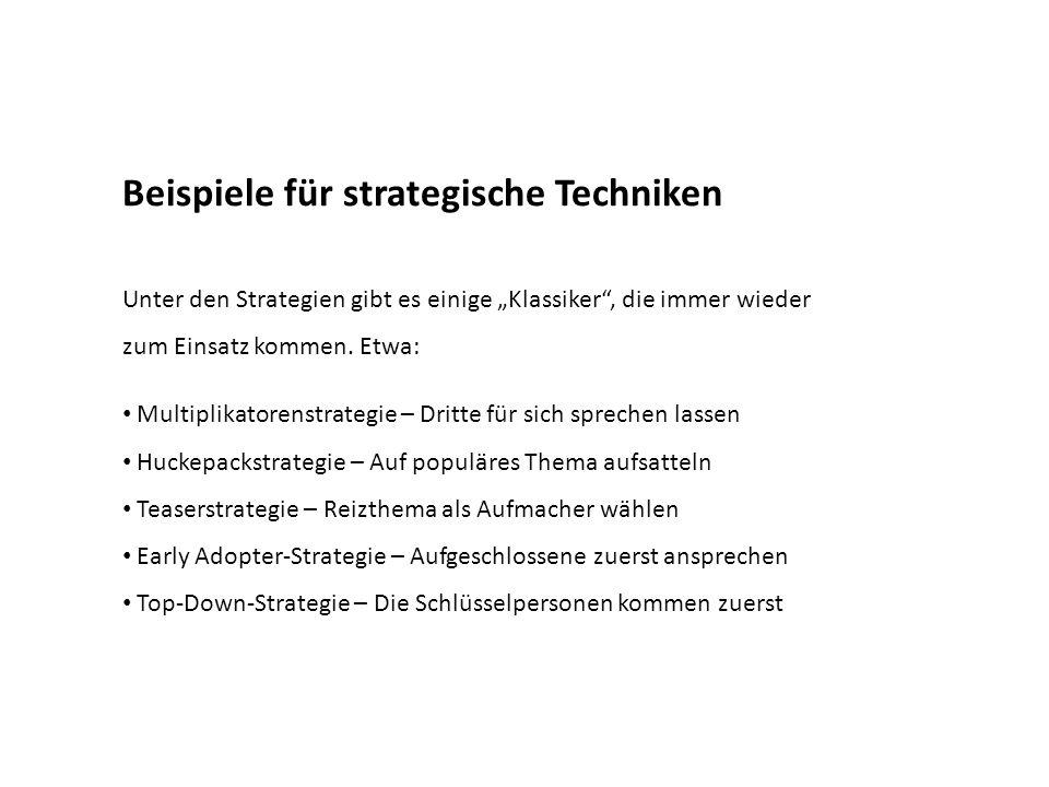Beispiele für strategische Techniken