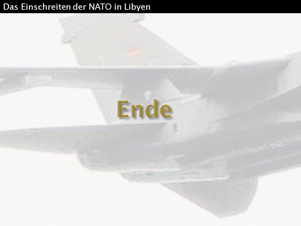 Das Einschreiten der NATO in Libyen