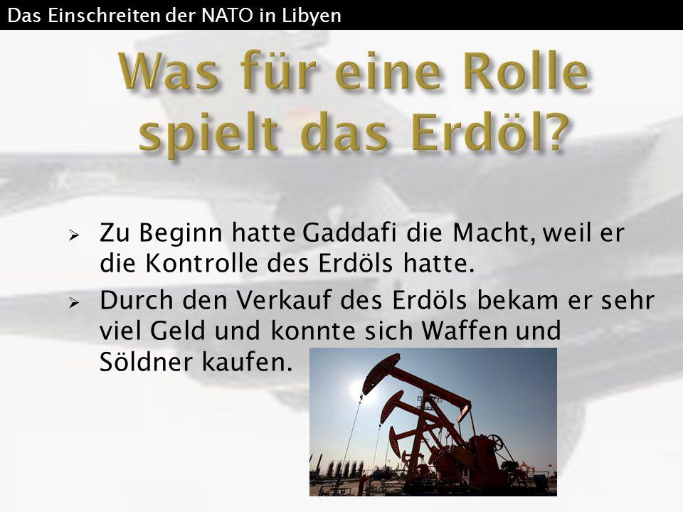 Was für eine Rolle spielt das Erdöl