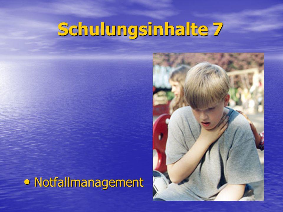 Schulungsinhalte 7 Notfallmanagement
