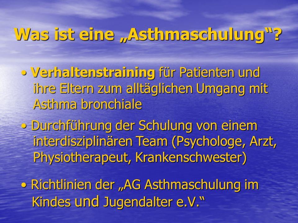 """Was ist eine """"Asthmaschulung"""