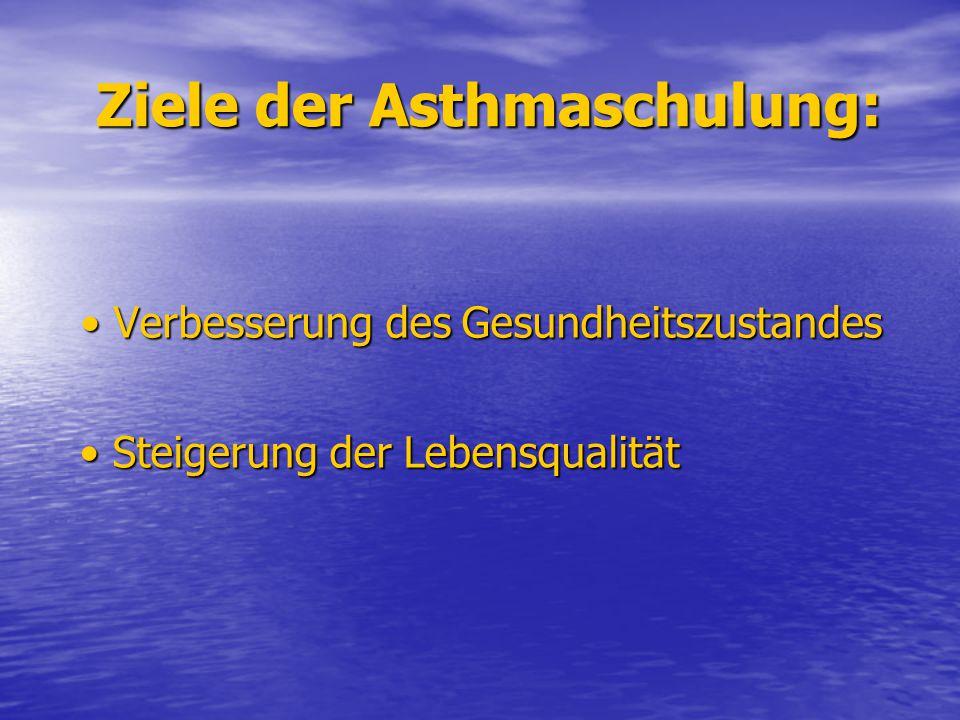 Ziele der Asthmaschulung: