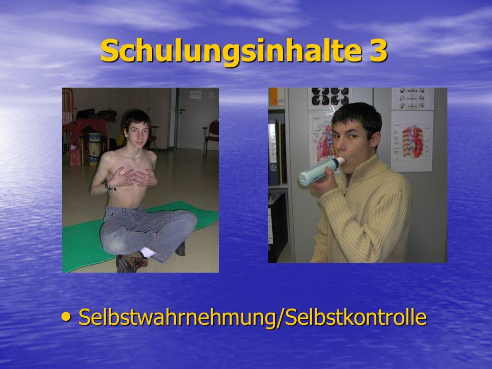 Schulungsinhalte 3 Selbstwahrnehmung/Selbstkontrolle