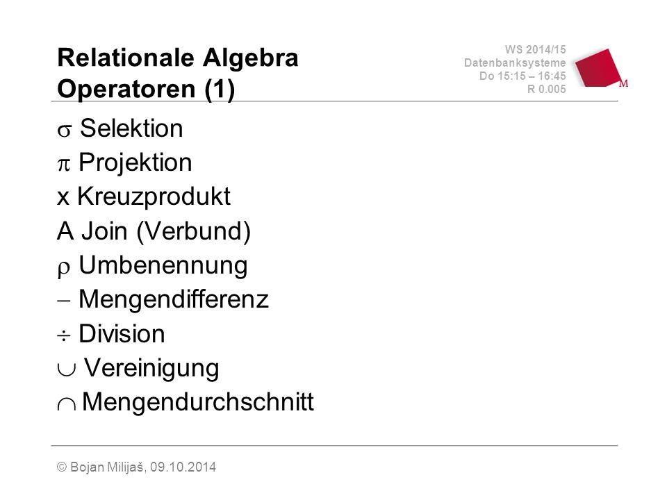 Relationale Algebra Operatoren (1)