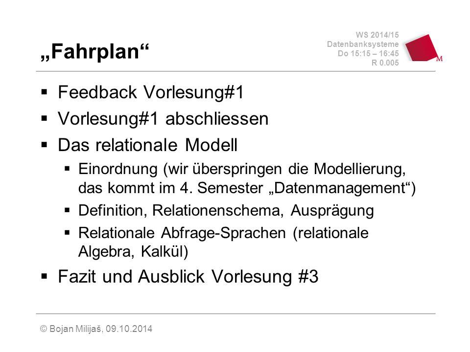 """""""Fahrplan Feedback Vorlesung#1 Vorlesung#1 abschliessen"""